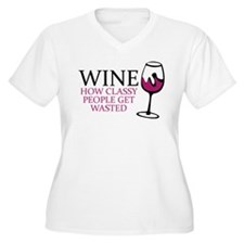 Wine Classy People Plus Size T-Shirt