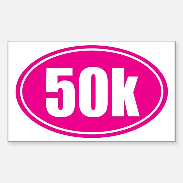 50k Pink oval Decal