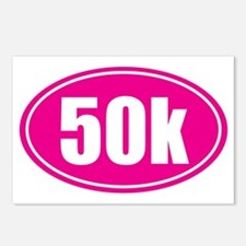 50k Pink oval Postcards (Package of 8)