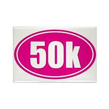 50k Pink oval Rectangle Magnet