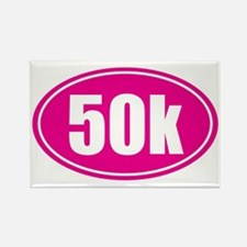 50k Pink oval Rectangle Magnet