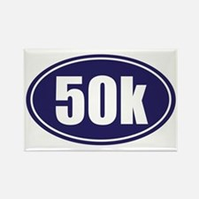 50k Blue oval Rectangle Magnet