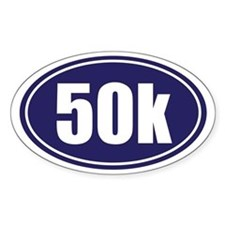 50k Blue oval Decal