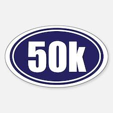 50k Blue oval Sticker (Oval)
