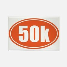 50k Orange oval Rectangle Magnet