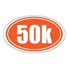 50k Orange oval Decal