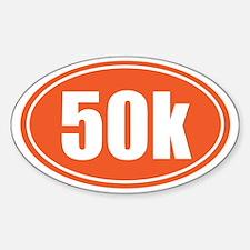 50k Orange oval Decal