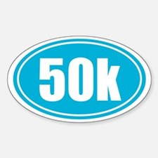 50k Light Blue oval Decal