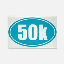 50k Light Blue oval Rectangle Magnet
