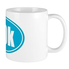 50k Light Blue oval Mug