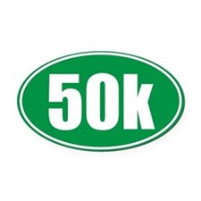 50k green oval Oval Car Magnet