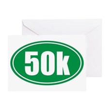 50k green oval Greeting Card