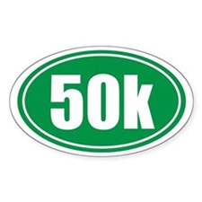 50k green oval Decal