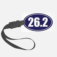 26.2 blue oval Luggage Tag