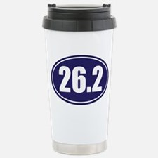 26.2 blue oval Travel Mug