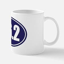 26.2 blue oval Mug