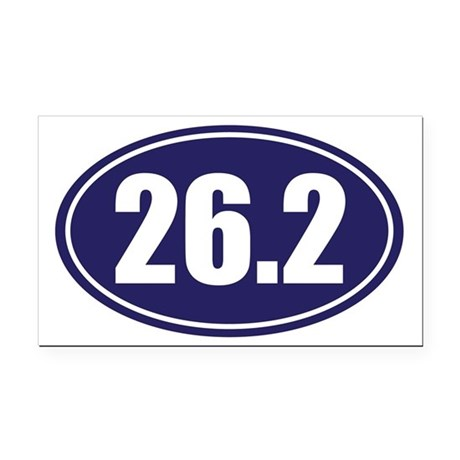 26.2 blue oval Rectangle Car Magnet