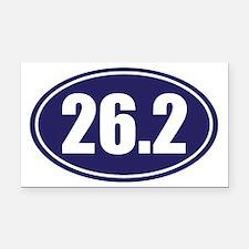 26.2 blue oval Rectangle Car Magnet