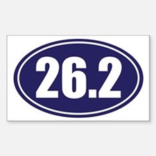 26.2 blue oval Decal