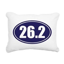 26.2 blue oval Rectangular Canvas Pillow