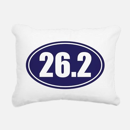 26.2 blue oval Rectangular Canvas Pillow