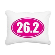 26.2 pink oval Rectangular Canvas Pillow