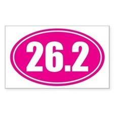 26.2 pink oval Decal