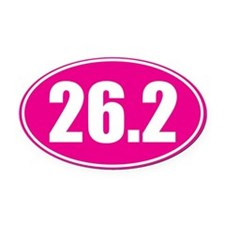 26.2 pink oval Oval Car Magnet