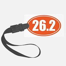 26.2 orange oval Luggage Tag