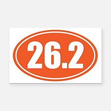 26.2 orange oval Rectangle Car Magnet