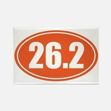 26.2 orange oval Rectangle Magnet