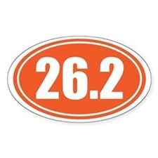 26.2 orange oval Decal