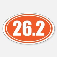 26.2 orange oval Decal