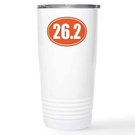 26.2 orange oval Stainless Steel Travel Mug