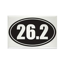 26.2 black oval Rectangle Magnet