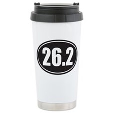 26.2 black oval Travel Mug