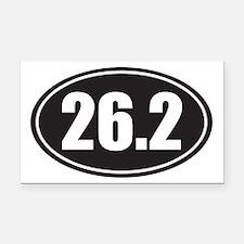 26.2 black oval Rectangle Car Magnet