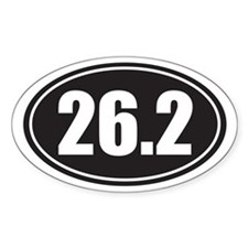 26.2 black oval Decal