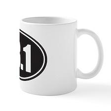13.1 black oval Mug