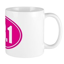 13.1 pink oval Mug