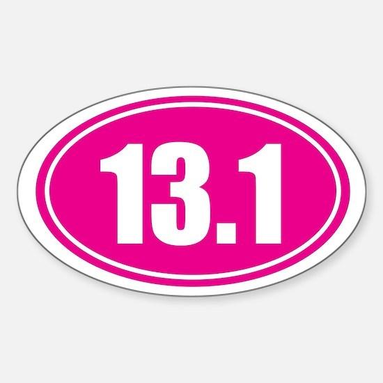 13.1 pink oval Sticker (Oval)