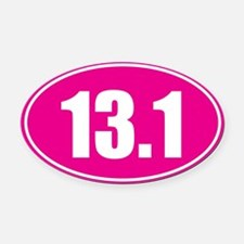 13.1 pink oval Oval Car Magnet