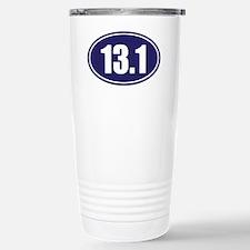 13.1 blue oval Travel Mug