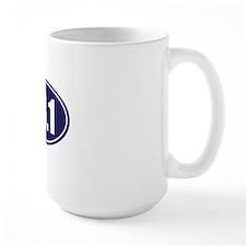 13.1 blue oval Mug