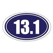 13.1 blue oval Decal