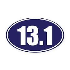 13.1 blue oval Oval Car Magnet