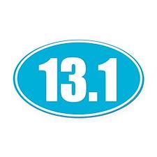 13.1 light blue oval Oval Car Magnet