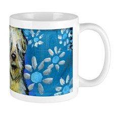 Wheaten Terrier flowers Mugs