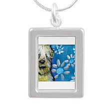 Wheaten Terrier flowers Necklaces