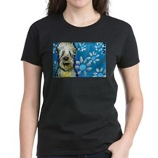 Wheaten Terrier flowers T-Shirt